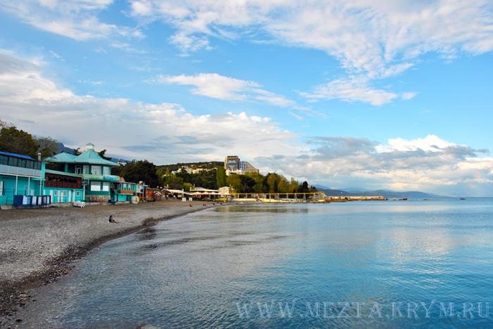 Алушта пляж Ласковый берег городской